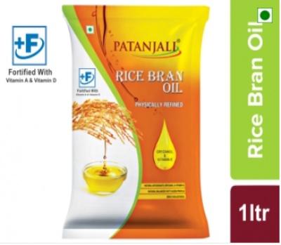 Patanjali Rice Bran Oil (Pouch)1L.