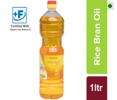 Patanjali Rice Bran Oil 1L.