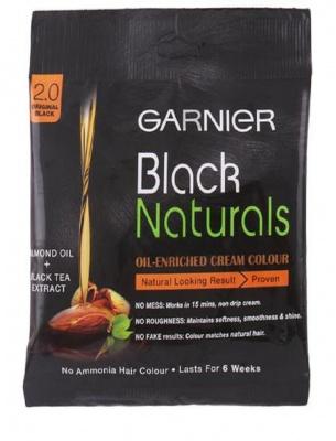 Garnier Black Naturals Hair Colour, Original Black (20 g + 20 ml)