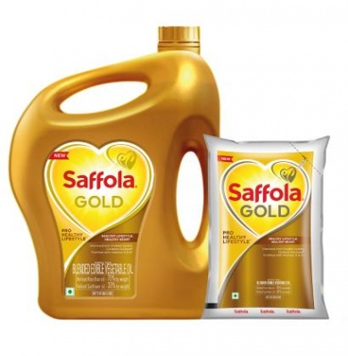 Saffola Gold Pro Healthy Lifestyle RiceBran Based Blended Oil 5 L